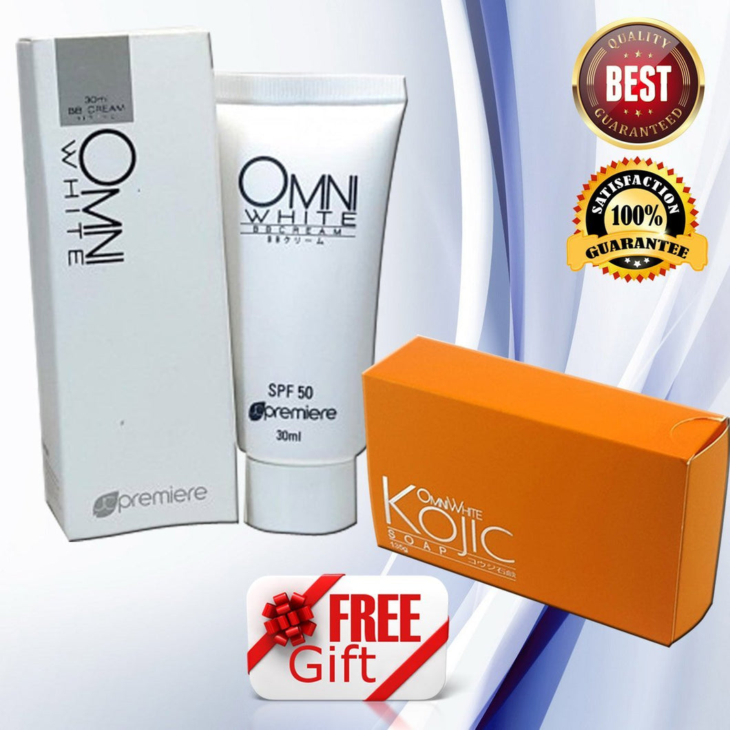 Omni White Whitening BB Cream 30ml and Omni White Kojic Soap