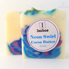 Load image into Gallery viewer, Neon Swirl Cocoa Butter Soap