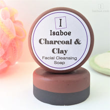 Load image into Gallery viewer, Acne Prone Charcoal & Clay Facial Cleansing Soap,Soap,Isaboe,Gift Creations.