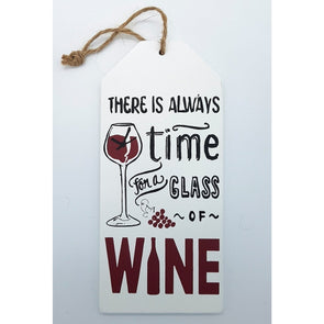 Hanging Wine Sign - Always Time,,Gift Creations,Gift Creations.