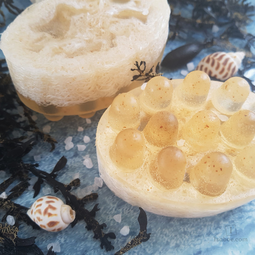 Seaweed & Loofah Massage Soap,Soap,Isaboe,Gift Creations.