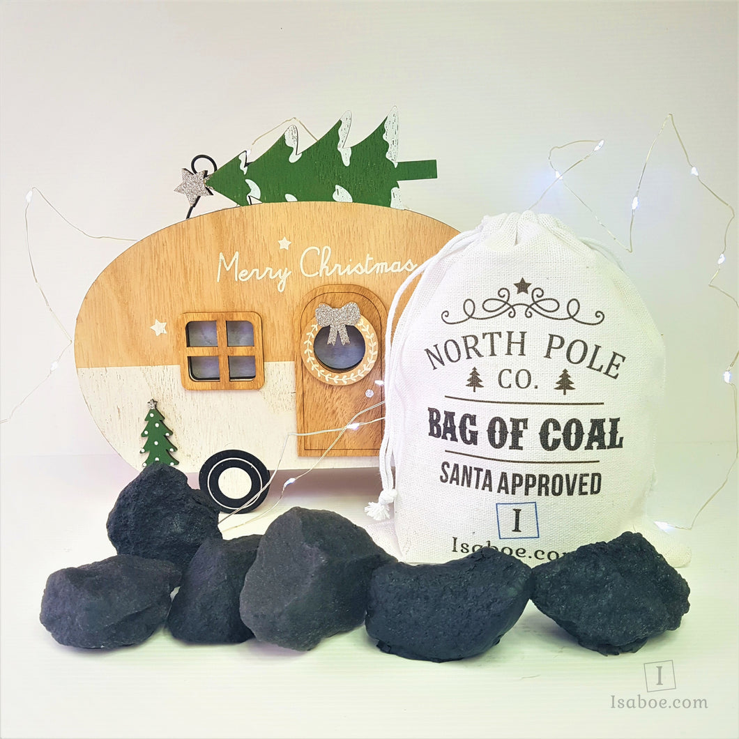 Bag of Coal Soap - Great Christmas Stocking Stuffer,Soap,Isaboe,Gift Creations.