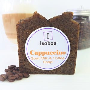 Cappuccino (Goats Milk & Coffee) Soap - Gardeners Soap,Soap,Isaboe,Gift Creations.