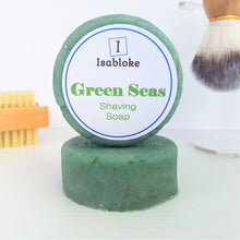 Load image into Gallery viewer, Green Seas Shaving Soap,Shaving Set,Isabloke,Gift Creations.