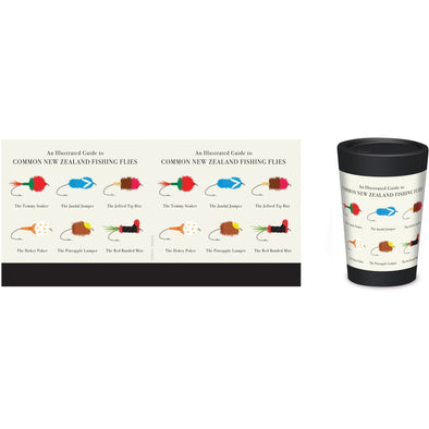 Eco-friendly Takeaway Coffee Cup - Fishing Flies,,Gift Creatons,Gift Creations.