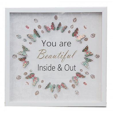 You're Beautiful Inside & Out Framed 3D Print,,Gift Creations,Gift Creations.
