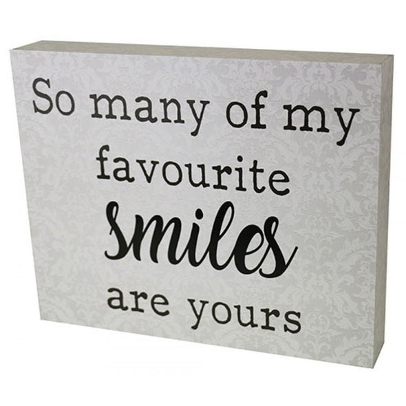 My Favourite Smile Sign,,Gift Creations,Gift Creations.