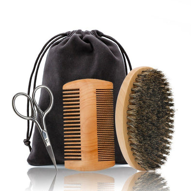 Boar Bristle Beard Grooming Kit,Beards,Isabloke,Gift Creations.