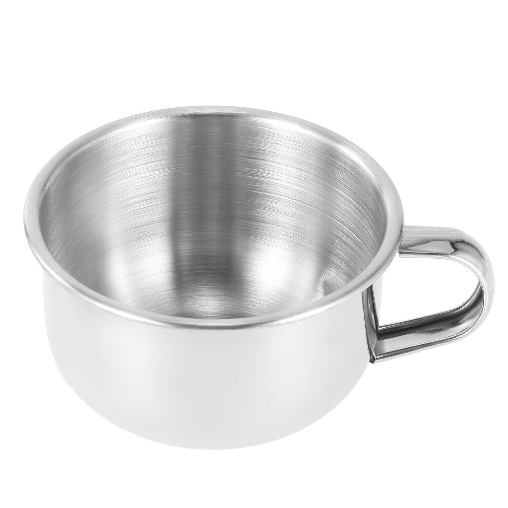 Stainless Steel Shaving Mug with Handle