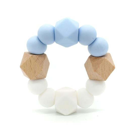 Lexi Blue - Beechwood & Silicone Teething Toy,,Gift Creations,Gift Creations.