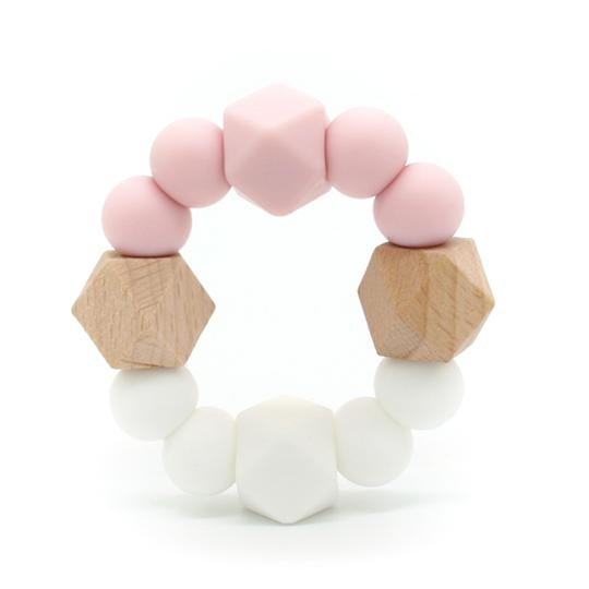 Lexi Pink - Beechwood & Silicone Teething Toy,,Gift Creations,Gift Creations.