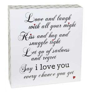 Love & Laugh Standing Sign,,Gift Creations,Gift Creations.