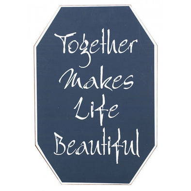 Together Makes Life Beautiful - Tin Sign,,Gift Creations,Gift Creations.