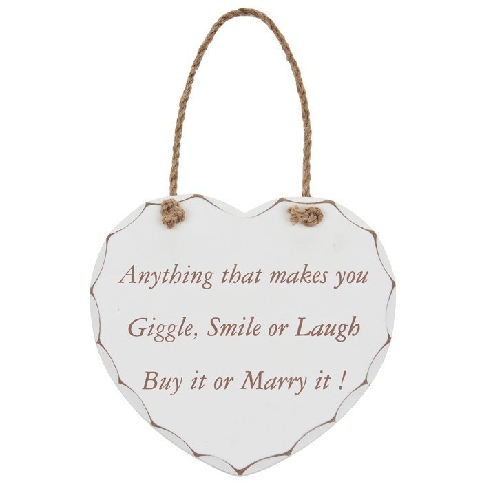 Giggle smile or laugh.   Large Hanging Heart,,Gift Creations,Gift Creations.