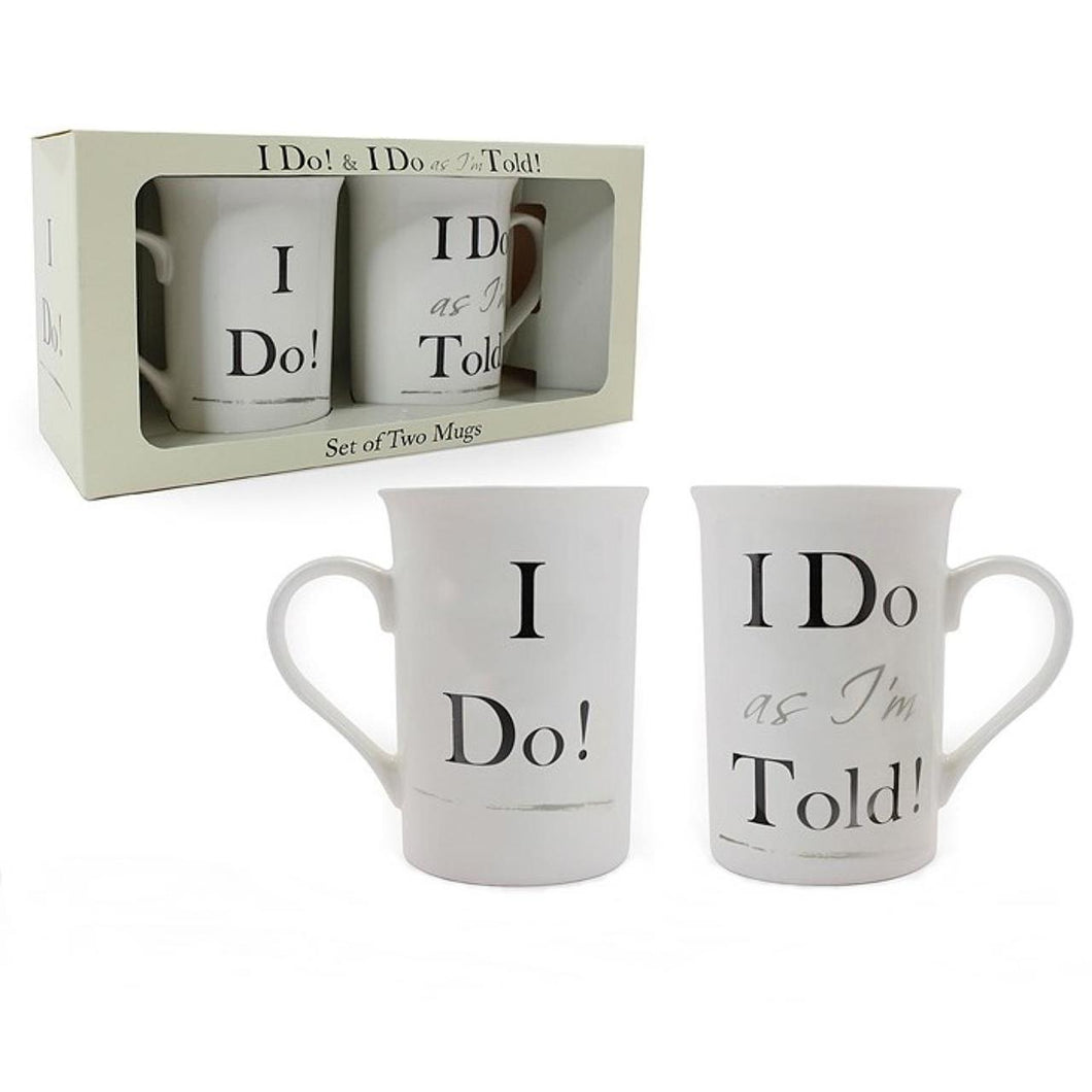I Do, I Do As I'm Told Set Of Mugs,,Gift Creations,Gift Creations.