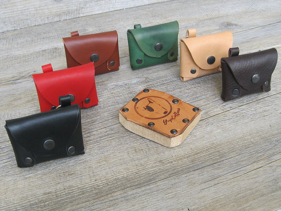 Dog Waste Bag Holder in 6 Leather Colors