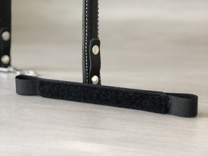 Detachable Leather and Hook and Loop Bridge for Service Dog Handles