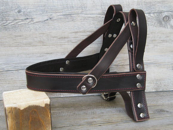 Leather Light Guide Dog Harness Padded with Soft Leather