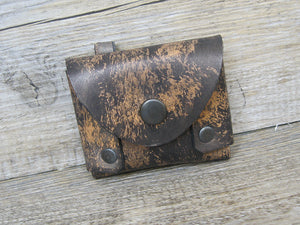 Dog Waste Bag Holder in Vintage Effect Leather