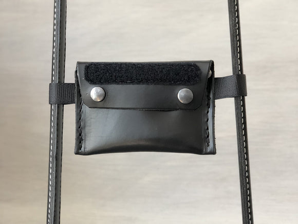 Detachable Leather Pouch Bridge with Hook and Loop for Service Dog Handles