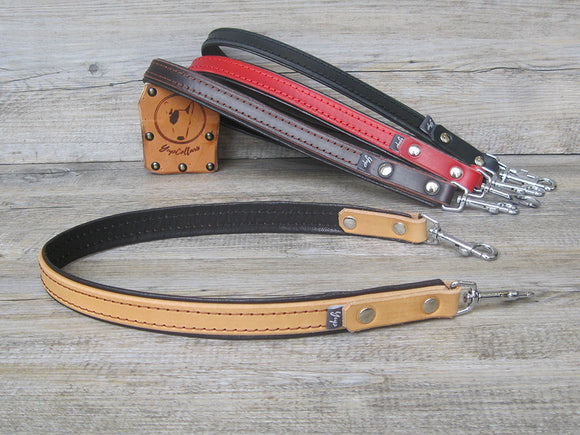 Pulling Handle Padded with Soft Leather for Service Dog Harnesses