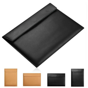 Luxurious Leather Sleeve Case For MacBook (11-15.4 inch)