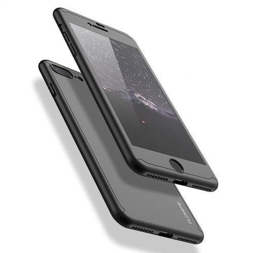 360 Protective Case For iPhone (all 5,6,7 & Plus) - Super Thin, Full Body Cover with Tempered Glass