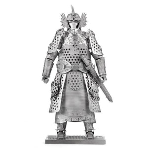 Samurai General Figurine - 3D Precision Laser Cut Model Kit