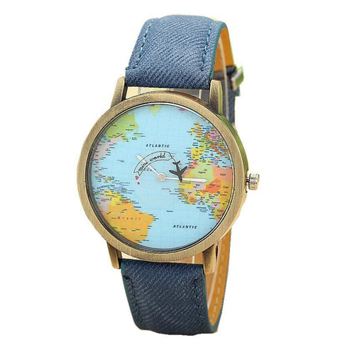 'Global Traveller' Casual Unisex Watch