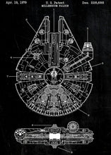 Star Wars Patent - High Quality Pearl Canvas Print Wall Art