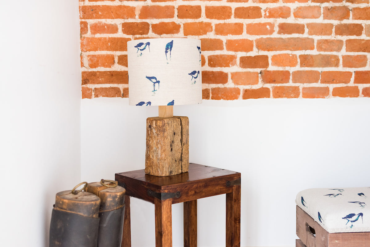 Reclaimed oak beam table lamp