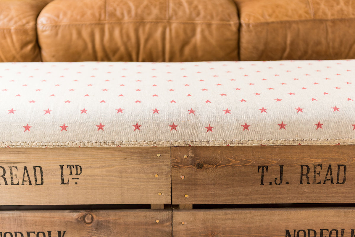 Apple crate long footstools