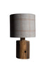 Dove tweed table lamp