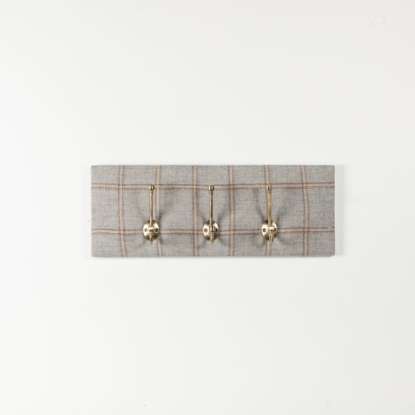 Dove tweed coat hooks
