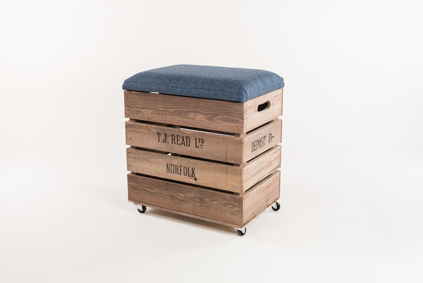 Flintstone and midnight tweed breakfast bar stool
