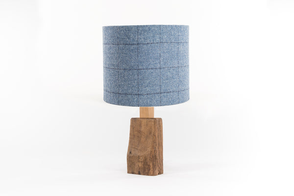Flintstone and midnight tweed table lamp