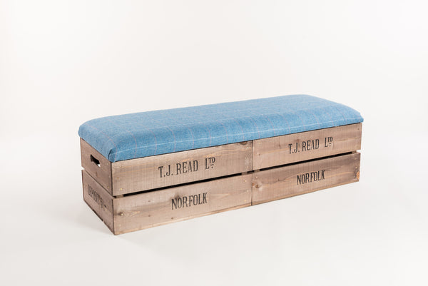 Jay tweed long footstool