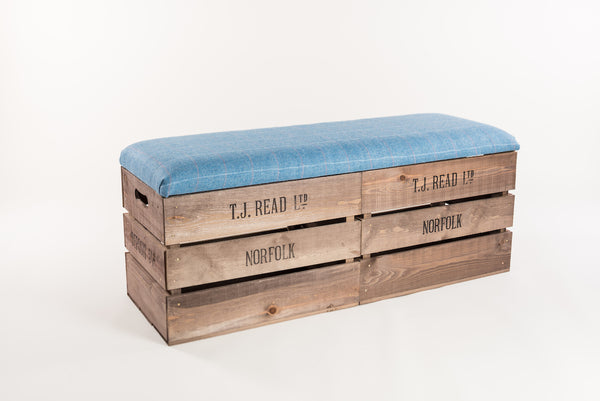 Jay tweed storage bench