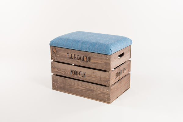 Jay tweed storage stool