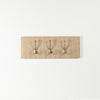 Natural stripe tweed coat hooks