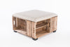 Dove Apple Crate Ottoman Coffee Table