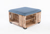 Flintstone Apple Crate Ottoman Coffee Table