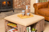 Natural Stripe Apple Crate Ottoman Coffee Table