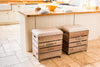 Natural stripe tweed breakfast bar stool
