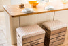 Red stripe stag breakfast bar stool