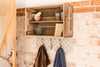 Grey star shelves and coat hooks