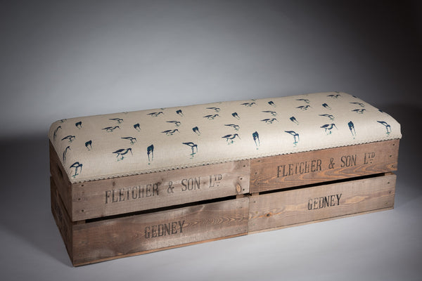 Wading birds long footstool