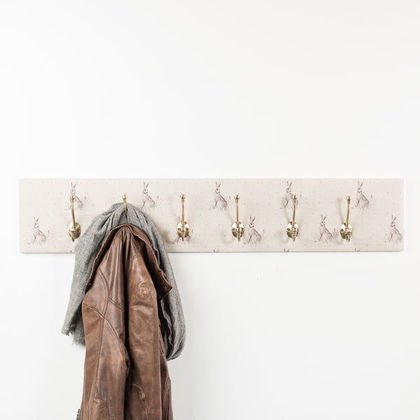 Blue dot hare coat hooks