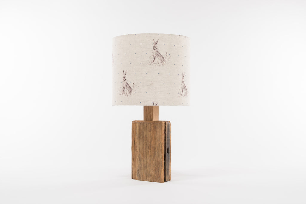 Blue dot hare table lamp