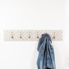 Provide your own fabric coat hooks